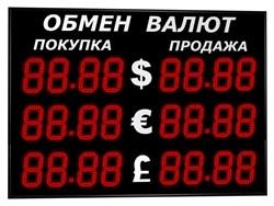 Табло валют 3 валюты