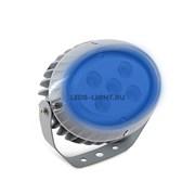 Светильник (прожектор) архитектурный светодиодный MS-OP AC220V 15W IP65 угол 30' (Синий)-560lm