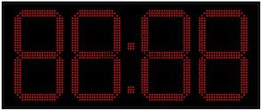 Офисные часы 400 мм красные светодиоды
