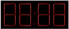 Офисные часы 450 мм красные светодиоды