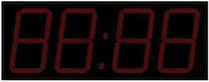 Офисные часы 500 мм красные светодиоды