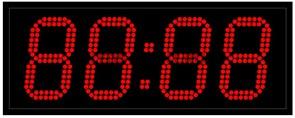 Уличные электронные часы 130 мм красные светодиоды