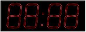Уличные электронные часы 210 мм красные светодиоды
