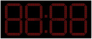 Уличные электронные часы 400 мм красные