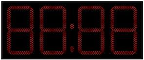 Уличные электронные часы 450 мм красные