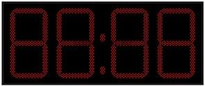 Уличные электронные часы 500 мм красные