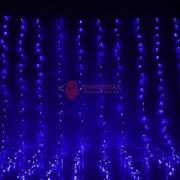 Световой занавес 2 х 9 м синий фиксинг