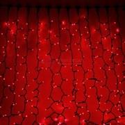 Световой занавес 2 х 3 м красный с контроллером