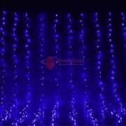 Световой занавес 2 х 1,5 м синий фиксинг FLASH