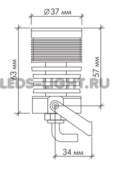 Светильник архитектурный светодиодный SLS-13-cool_white АC220V (Холодный белый) схема