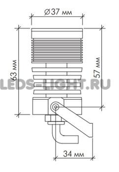 Светильник архитектурный светодиодный SLS-13-warm_white АC220V (Теплый белый) схема