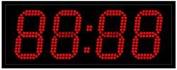 Офисные часы 130 мм красные светодиоды