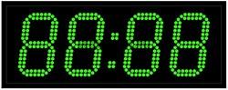 Офисные часы 130 мм зеленые светодиоды