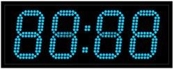 Офисные часы 130 мм синие светодиоды