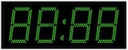 Офисные часы 150 мм зеленые светодиоды