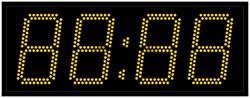 Офисные часы 150 мм желтые светодиоды