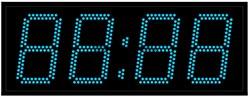 Офисные часы 150 мм синие светодиоды