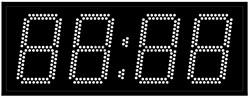 Офисные часы 150 мм белые светодиоды