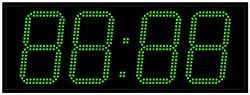 Офисные часы 210 мм зеленые светодиоды