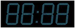 Офисные часы 210 мм синие светодиоды