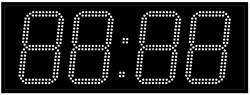 Офисные часы 210 мм белые светодиоды