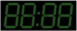 Офисные часы 350 мм зеленые светодиоды