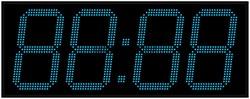 Офисные часы 350 мм синие светодиоды