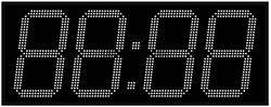 Офисные часы 350 мм белые светодиоды