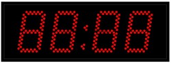 Уличные электронные часы 100 мм красные светодиоды