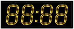 Уличные электронные часы 130 мм желтые светодиоды