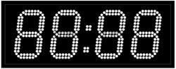 Уличные электронные часы 130 мм белые светодиоды