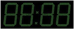 Уличные электронные часы 240 мм зеленые светодиоды
