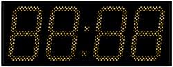 Уличные электронные часы 240 мм желтые светодиоды