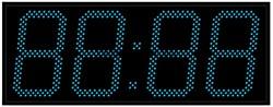 Уличные электронные часы 240 мм синие светодиоды