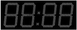 Уличные электронные часы 240 мм белые светодиоды