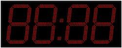 Уличные электронные часы 350 мм красные