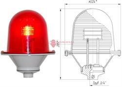 Заградительный огонь ЗОМ-80LED >32cd, тип «Б», 30-265V AC/DC, IP54 ТУ 3461-001-69016606-2010