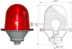 Заградительный огонь ЗОМ-75Вт >10cd, тип «А», 220V AC, IP54 ТУ 3461-001-69016606-2010