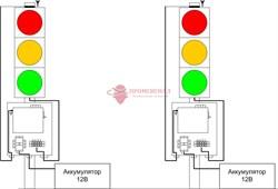 Мобильный светофор МС200 GPS