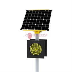 Автономный светофор SN Т.7.1 двухсторонний 200 мм 100Вт/65Ач