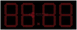 Табло цен АЗС 240 мм красное