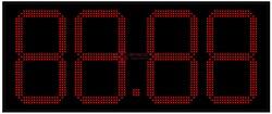 Табло цен АЗС 400 мм красные светодиоды