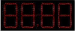 Табло цен АЗС 450 мм красные светодиоды