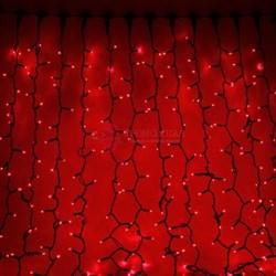 Световой занавес 2 х 9 м красный фиксинг