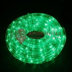 Круглый дюралайт мерцающий зеленый