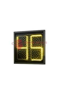 Желтая секция плоского светофора с ТООВ 99 300 мм