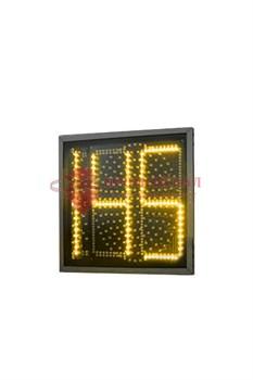 Желтая секция плоского светофора с ТООВ 199 300 мм