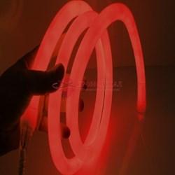 Круглый неон 360 красный