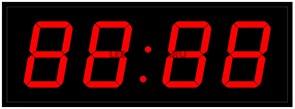 Офисные часы 100 мм красные светодиоды