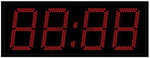 Офисные часы 150 мм красные светодиоды